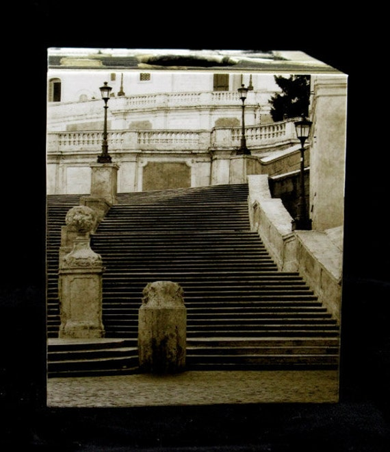 Tissue Box Cover The Spanish Steps in Rome