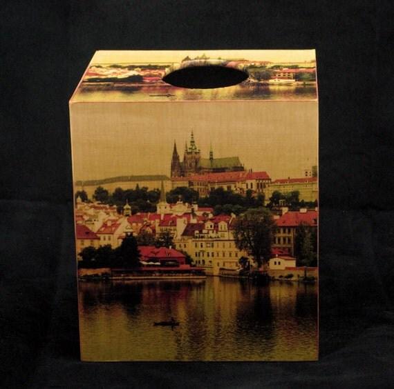 Tissue Box Cover Old World Prague