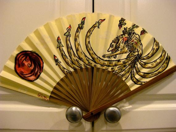 Okami Ninetails Folding Fan