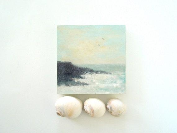 Maine Coast Oil Painting
