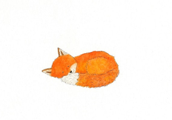 sleeping red fox clip art � cliparts