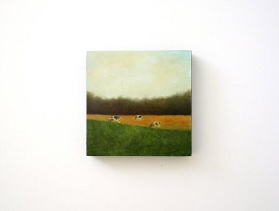 Farm Landscape Oil Painting