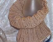ENTWINED, Wool blend, Cable Knit, Neck Warmer, Chunky Cowl, Infinity, Turtleneck, Dickey, Oatmeal, 7318