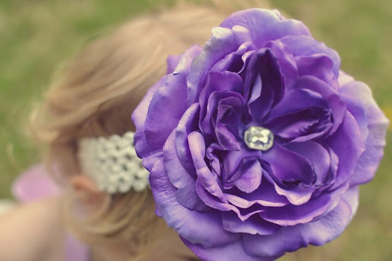Wedding Belle Flower Hairclip or Headband - Belle Fleur Collection - Photo Props, Weddings, Bridal, Special Occasions