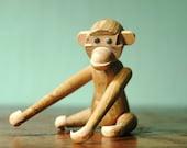 Danish Modern Wooden Monkey - Mid Century Modern Bojesen Era Teak Monkey