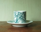 Danish Modern Nymolle Cup And Saucer Set Designed By Jacob Bang