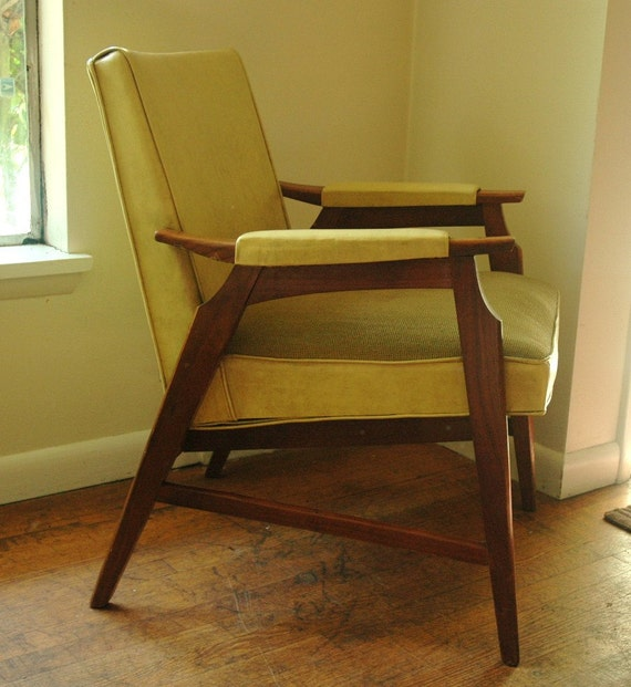 Modern Danish Lounge Chair in Mustard Yellow, Made by Murphy Miller