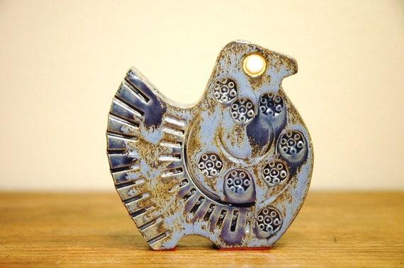 Mid Century Modern Ceramic Bird - Bitossi and Lindberg Era Modernist Animal Statue