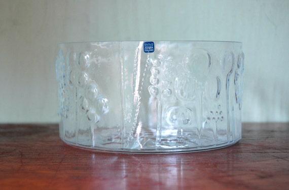 Arabia Of Finland Oiva Toikka Flora Serving Bowl - Danish Modern Art Glass Salad Bowl