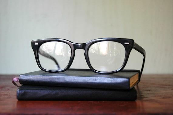Horn Rimmed Glasses - Mid Century American Optical Wayfarer Eyeglasses