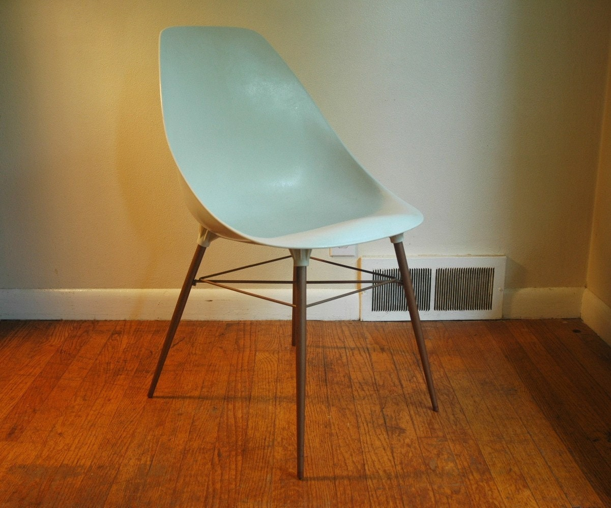 Plastic shell chair white eames era shell chair by junkhouse