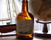 Ship on a Bottle upcycled liquor bottle