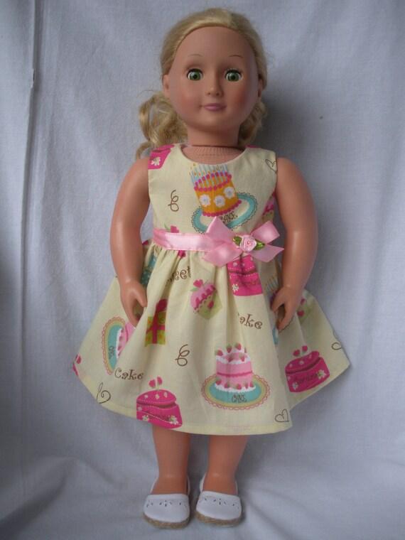 18 inch doll American Girl Dress-Birthday Girl