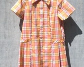 SALE - 1960s Pastel Plaid Dress