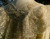 Nobody Puts Victoria in the Corner Victorian Edwardian Ecru Lace Romantic Rococo Blouse