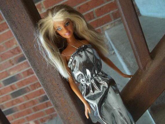 Barbie Clothing - Barbie Maxi Dress - Silver