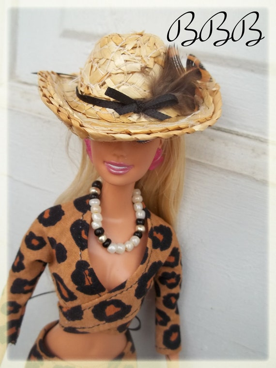 Handmade Barbie Clothing - Barbie Outfit - Wrap Top, Pants, & Hat