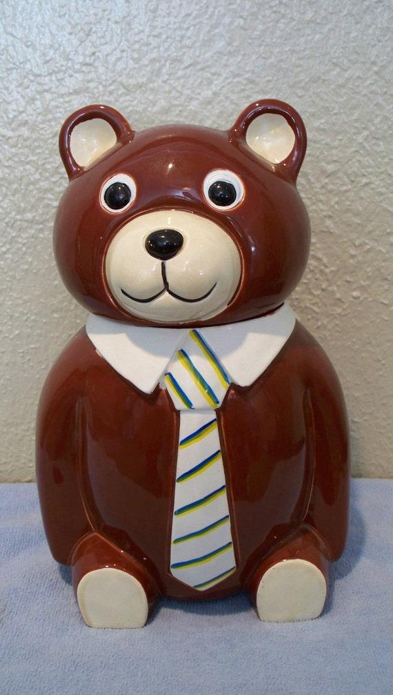 Vintage Teddy Bear Cookie Jar Made in Japan (MINT)