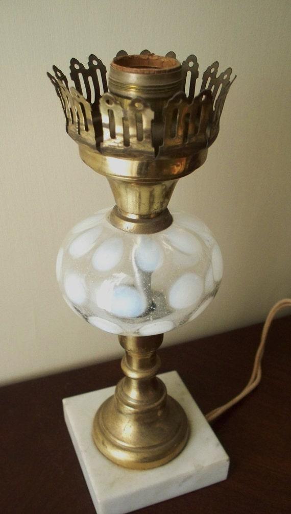 Fenton Coin Dot or Coin Spot Lamp Base Electric