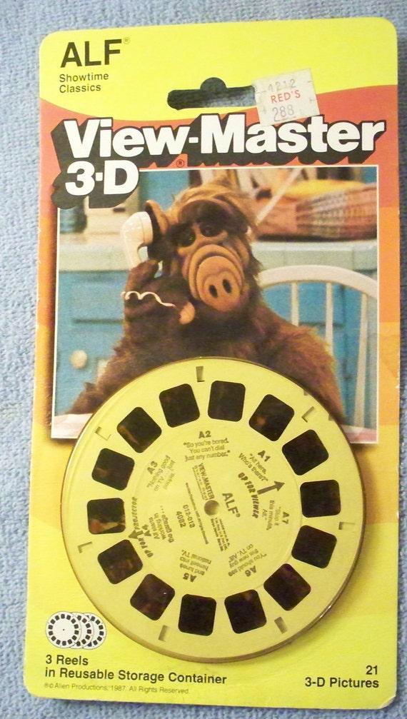 Vintage View Master 3D Alf Set of 3 Reels Unused