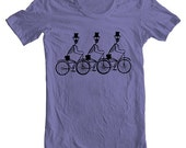 Day of the Dead Bicycle T shirt - Men's Women's - Violet  Tshirt T shirt  -  Sizes  l (gct)