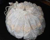 1953 Formal Bridal Drawstring Handbag Purse Reticule Bridal handbag
