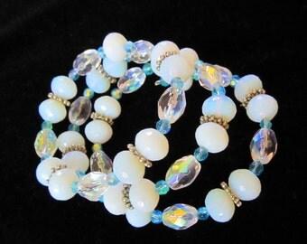 Opalite & Crystal Bracelet