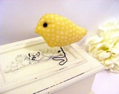 Autumn Sun Yellow Love Bird, Home Decor, Nursery,Child's Room Decoratio