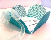 Sweet Tiffany Blue Flower Petal Gift Box