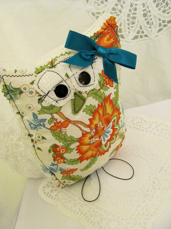 Summer Citrus Decorative Owl