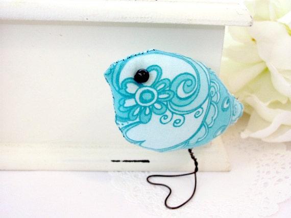 Turquoise Spring Love Bird, Home Decor, Nursery,Child's Room Decoration