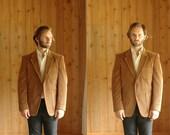 vintage men's jacket / dark brown corduroy blazer