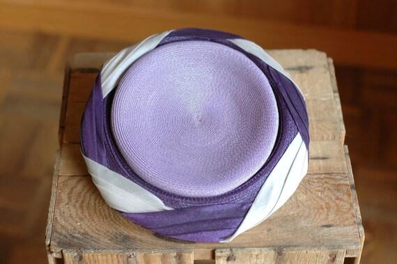 vintage 1950s violet hat