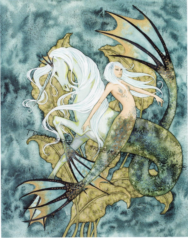 Unicorn Mermaid Dragon Fairy Faery Mystical Fantasy By