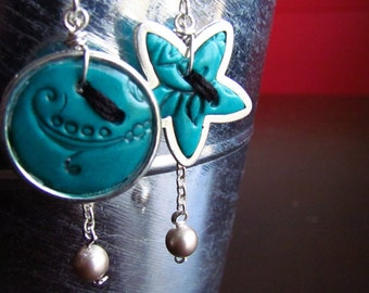 Boucles d'oreille boutons, Buttons earrings