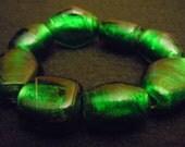 Electric Green Glass Bracelet