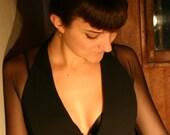 R E S E R V E D - Vintatge Early 1990's Short Black Wrap Dress