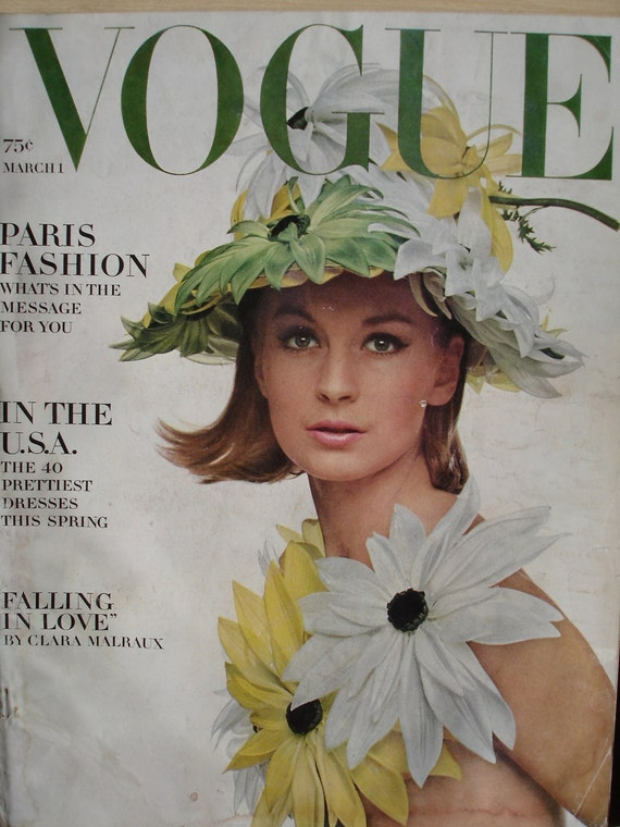 1960s vintage fashion magazine vogue march 1 1964 reserved