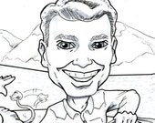 Two Family Caricatures - Custom Listing for Jen Heins