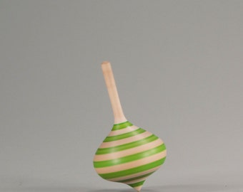 Onion shaped spinning top, hand turned
