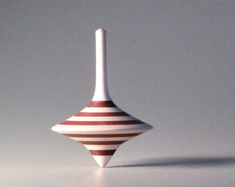 Funnel shaped top with brown stripes