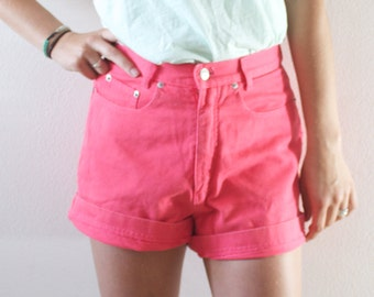 Vintage Retro PInk Levi Style High Waisted Shorts Nordstrom Brand