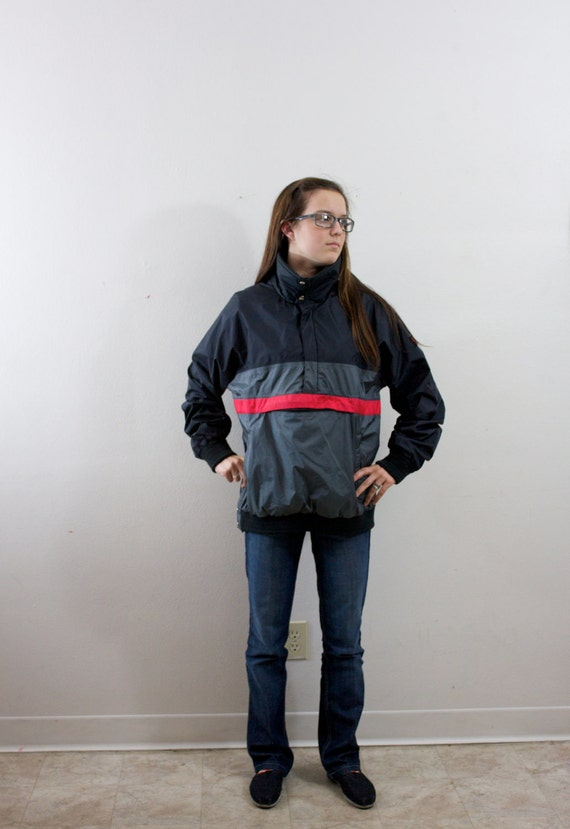 SALE Vintage Retro Black Grey and Red Jacket