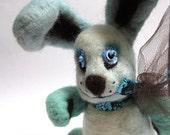 Felted Bunny rabbit Plushie toy, creepy animal