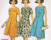1964 Vintage McCall's 7189 printed pattern - misses proportioned dress - short - size 18 bust 38