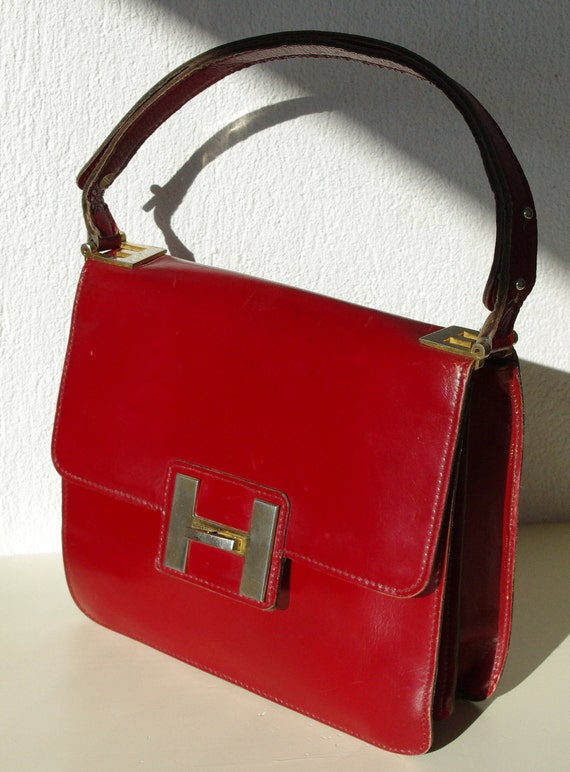 dark red handbag
