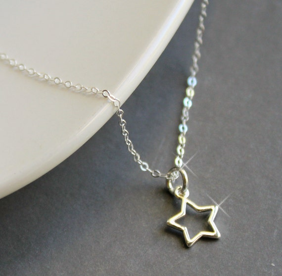 Sterling Silver Jewelry Necklace - My Shining Star - Simple, Minimal
