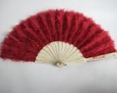 Ruby Red Victorian Crimson Fan