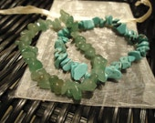Natural Turquoise and Green Aventurine Bracelets