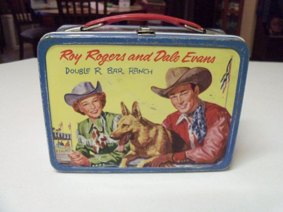 Vintage 1950s Roy Rogers Dale Evans Lunch Box